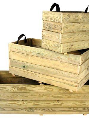 Jardineras de madera rectangulares