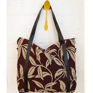 Bolso reciclado grande de tapicería vintage