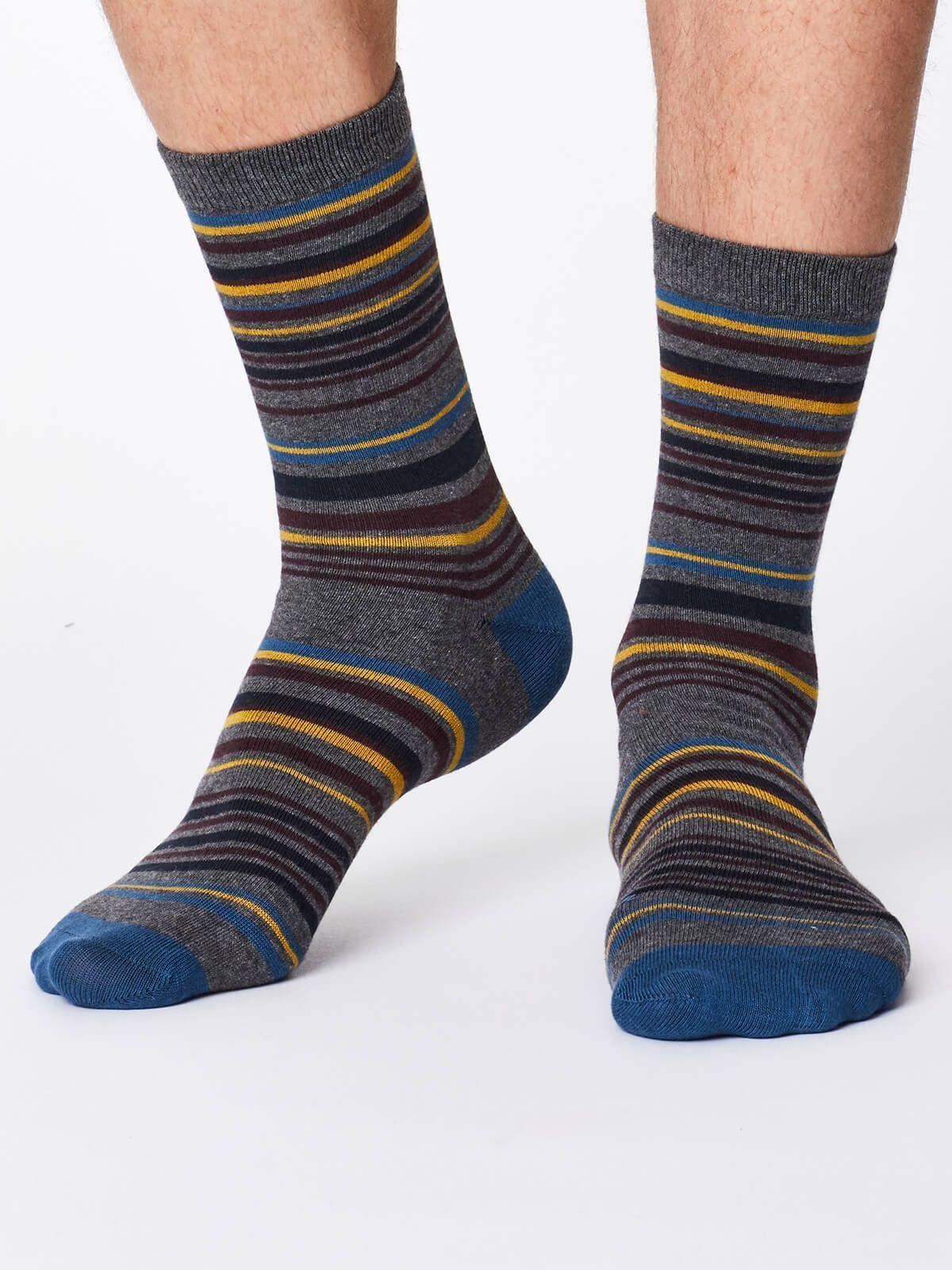 Calcetines divertidos estampado rayas pareja