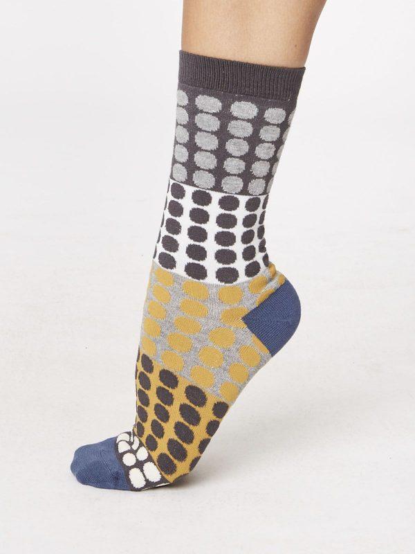 Calcetines Estampados de Puntos Para Mujer