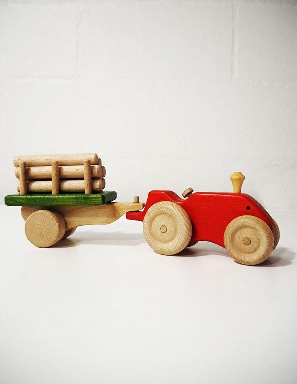 Tractor de juguete con remolque