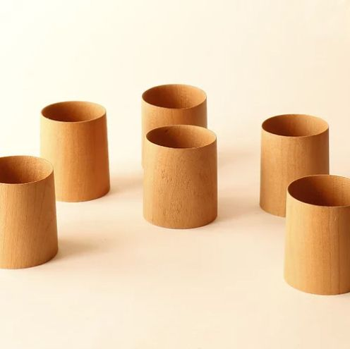 Vasos chupito de madera