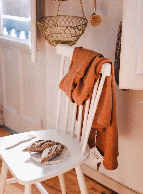 Mantel en lino natural