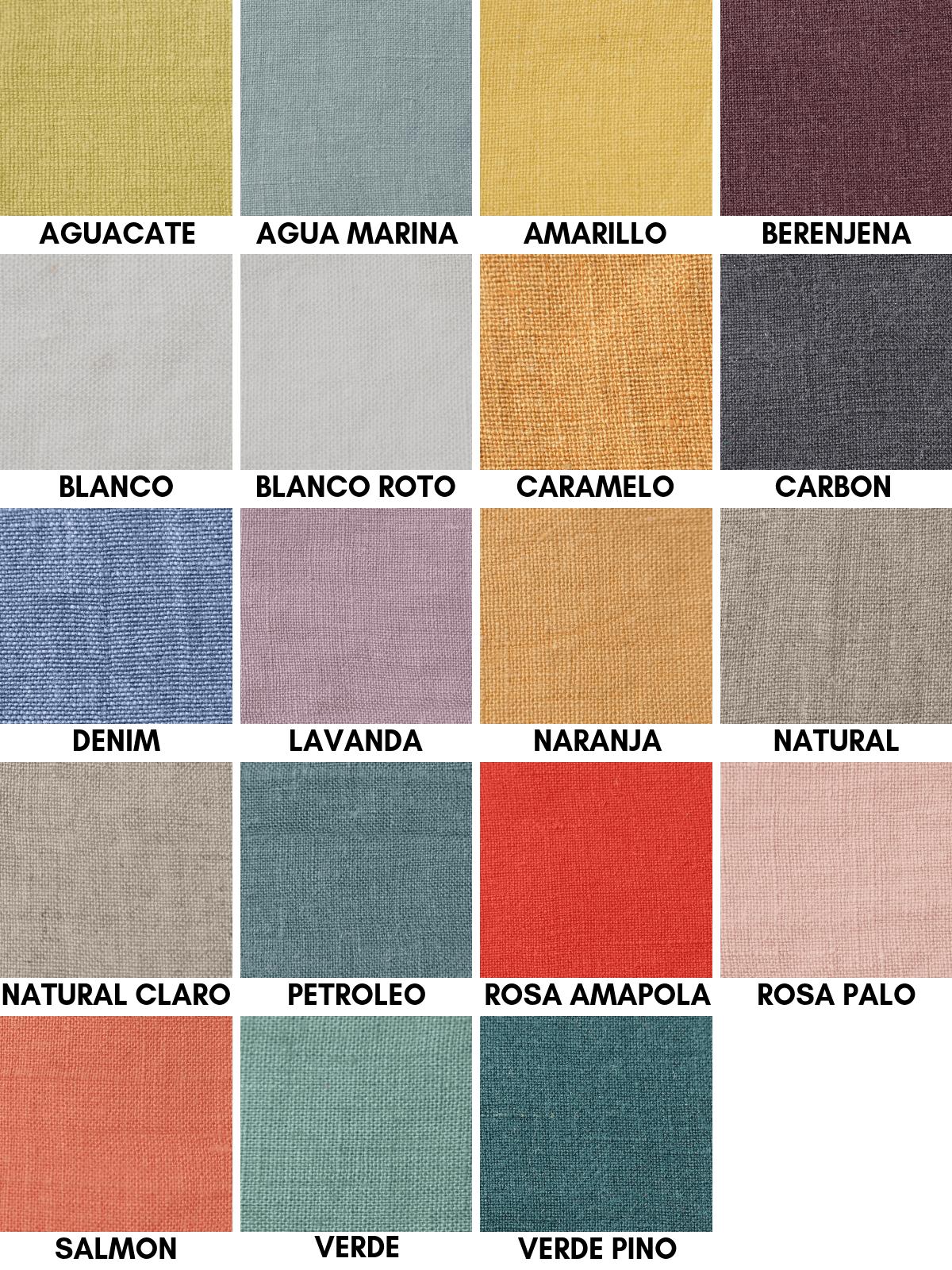Tela de lino colores