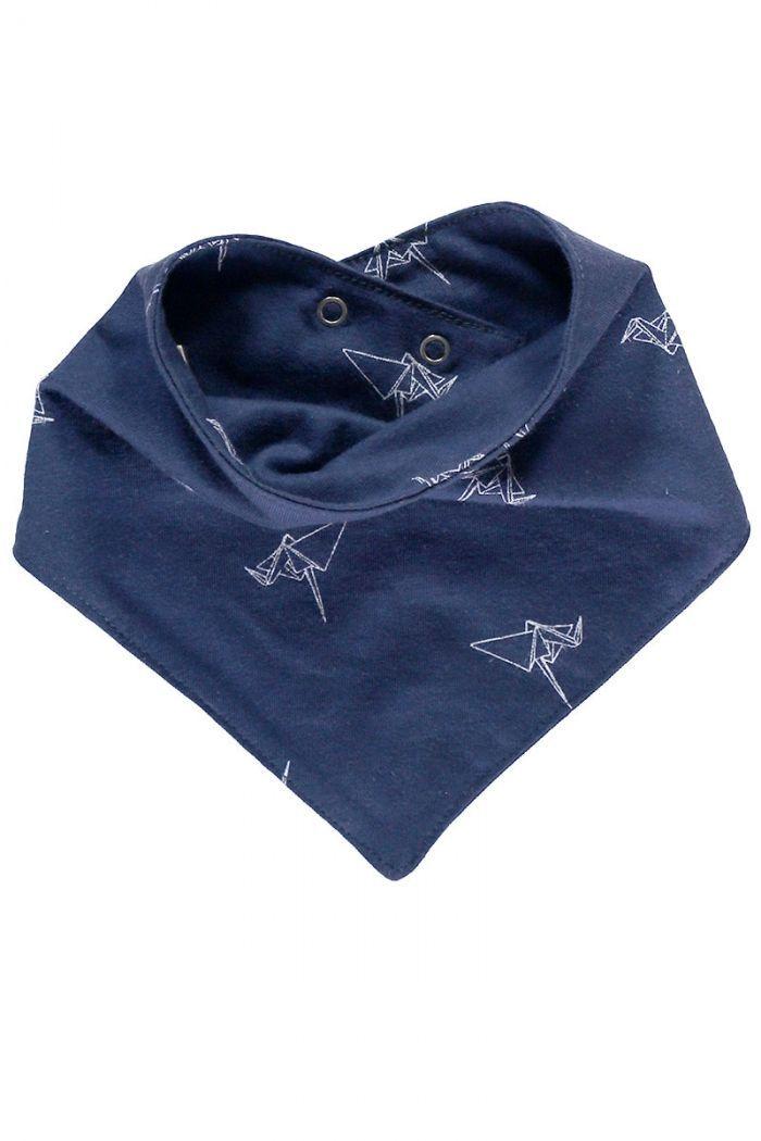 Babero azul marino estampado origami