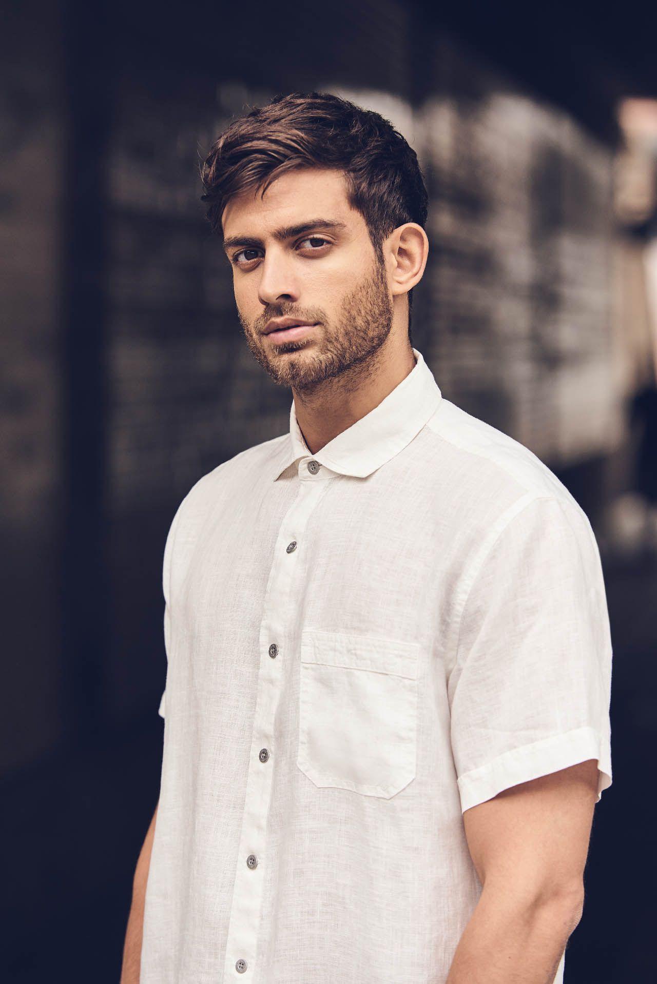 Camisa manga corta de hombre 100% cáñamo . 100% natural Fieito