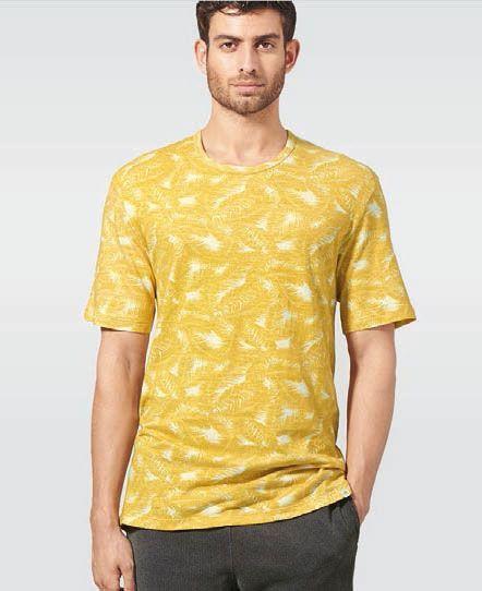 Camiseta estampado hojas de palmera