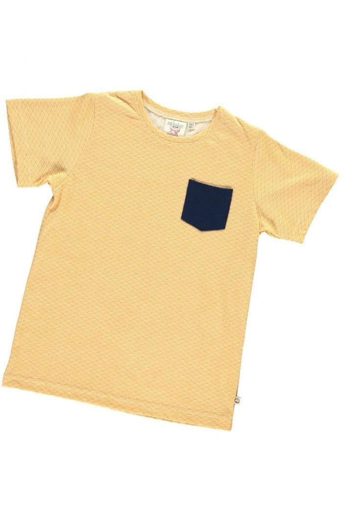 Camiseta infantil color miel estampado japonés