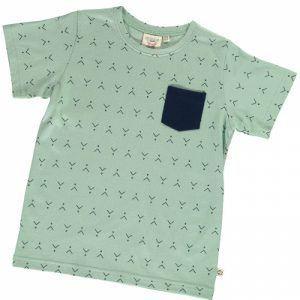 Camiseta infantil verde estampado abstracto