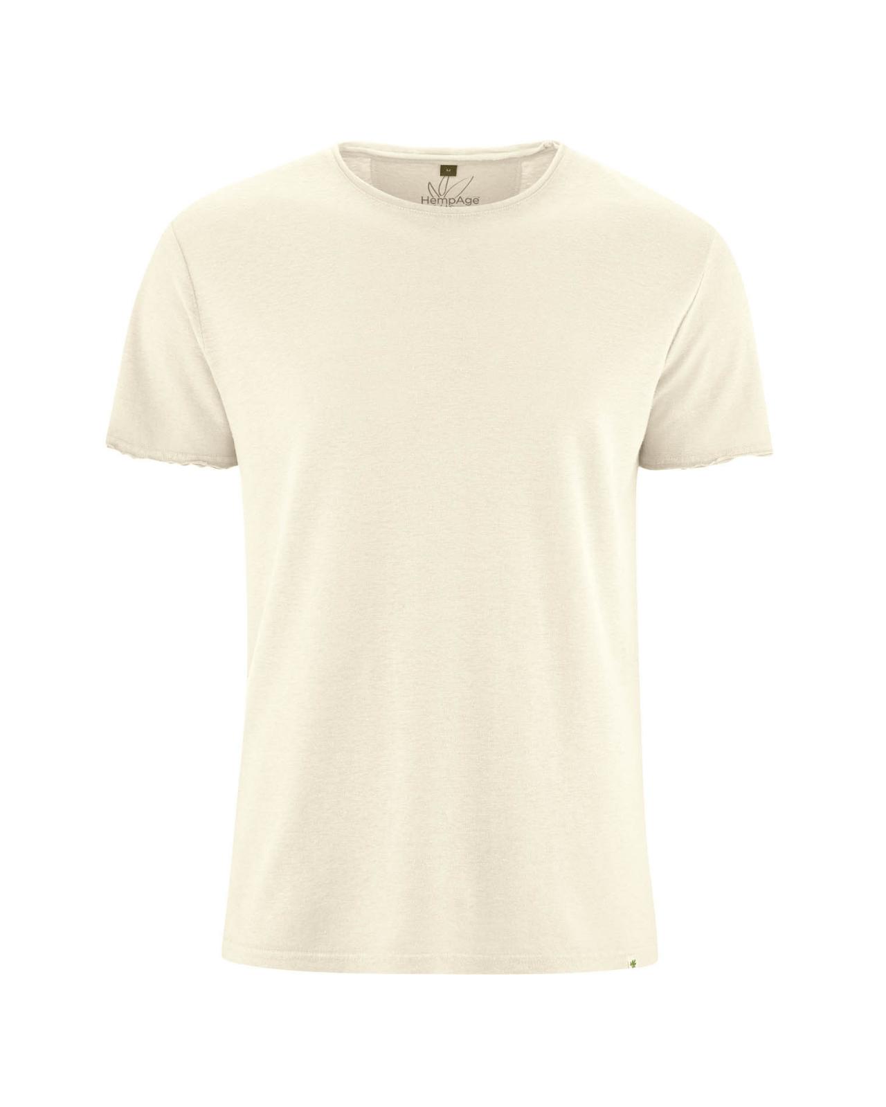 Camiseta-lisa-hombre-de-cáñamo y algodón orgánico blanca