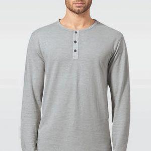 Camiseta manga larga hombre con botones