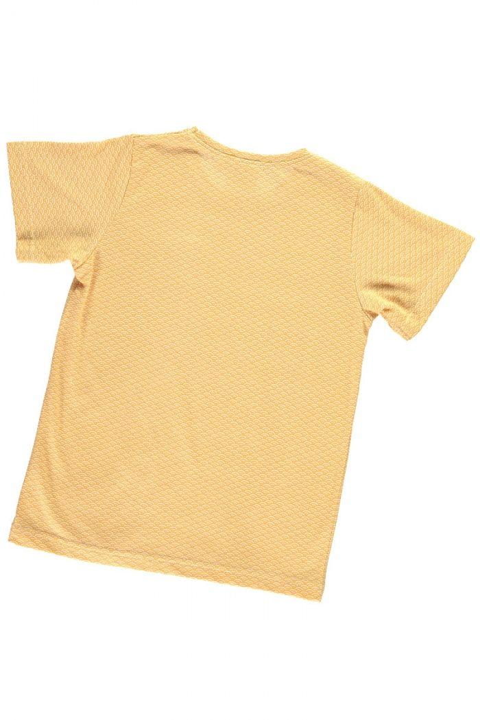 Espalda camiseta infantil color miel estampado japonés