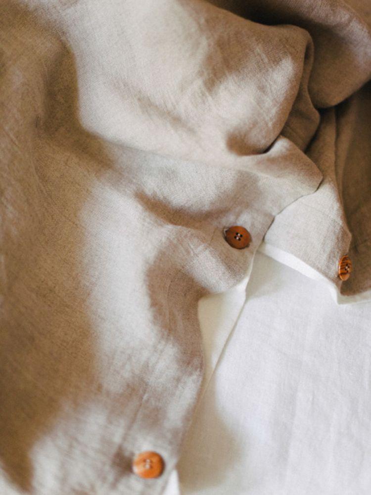 Funda nórdica lino beige
