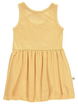 Vestido infantil tirantes amarillo estampado japonés