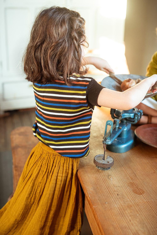 Camiseta de rayas para niños multicolor