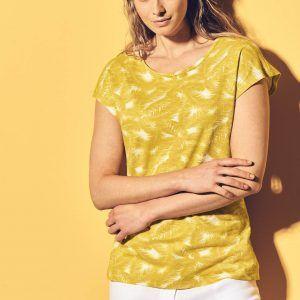 Camiseta estampada manga corta mujer
