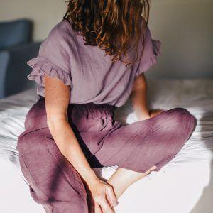 Pantalón de lino mujer con elástico