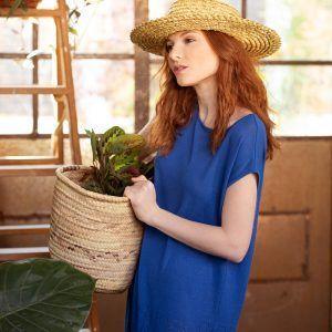 Vestido de punto azulón