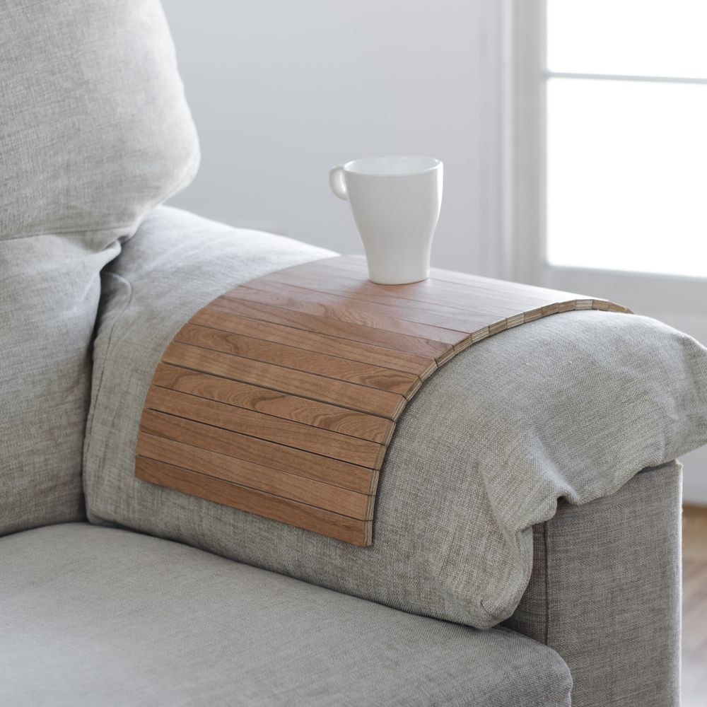 Bandeja cerezo reposabrazos sofá