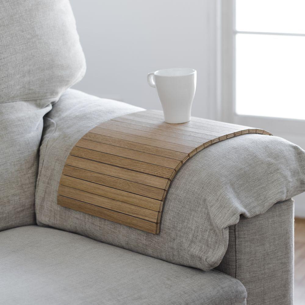 Bandeja roble reposabrazos sofá