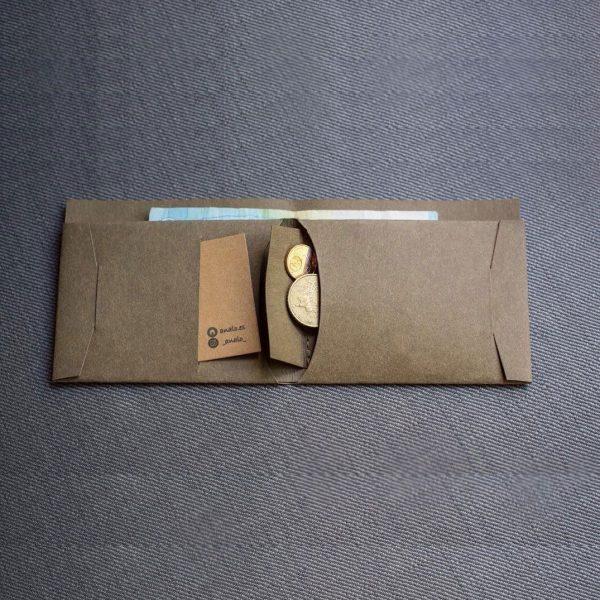 Billetera de papel lavable con monedero