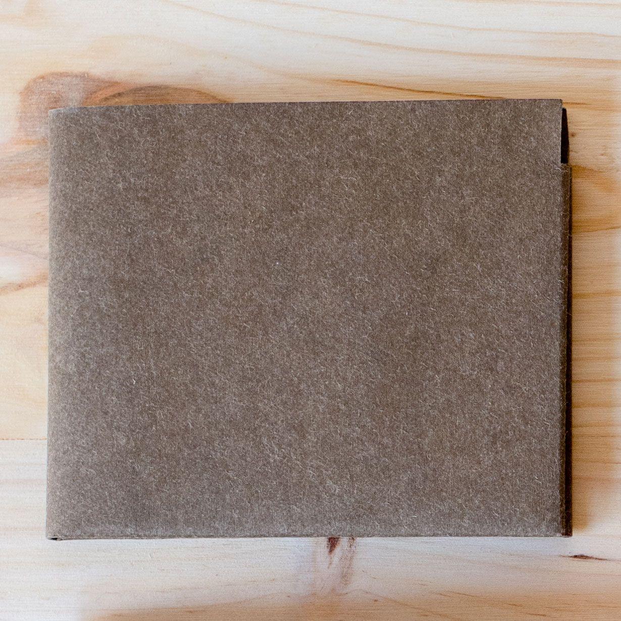 Billetera de papel lavable