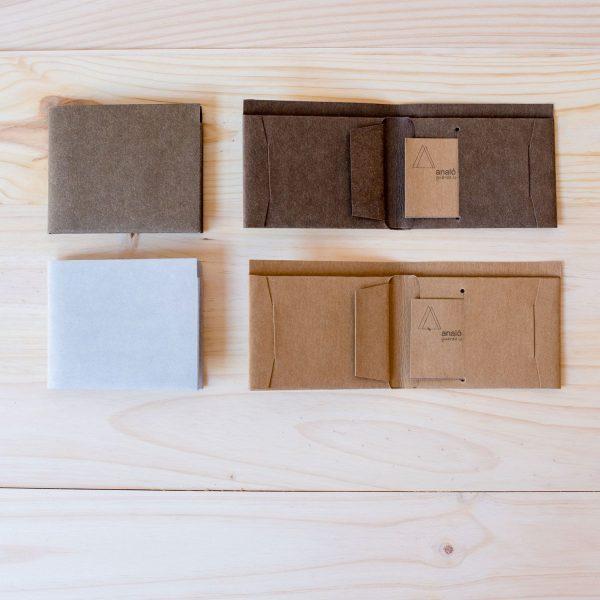 Billeteras de papel lavable de varios colores