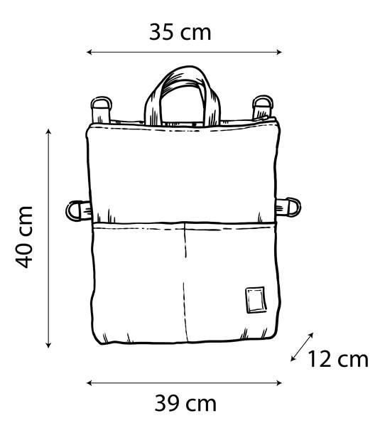 Dimensiones bolso-mochila Numon