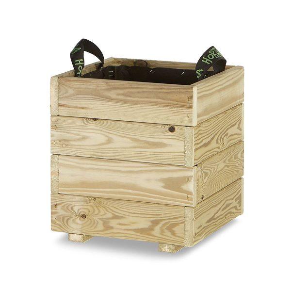 Jardinera madera cuadrada 35x35
