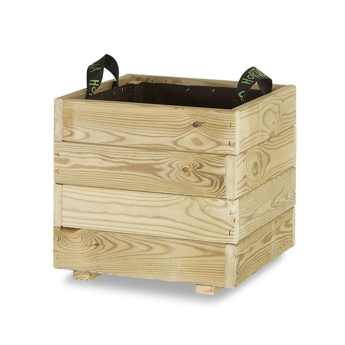 Jardinera madera cuadrada 40x40