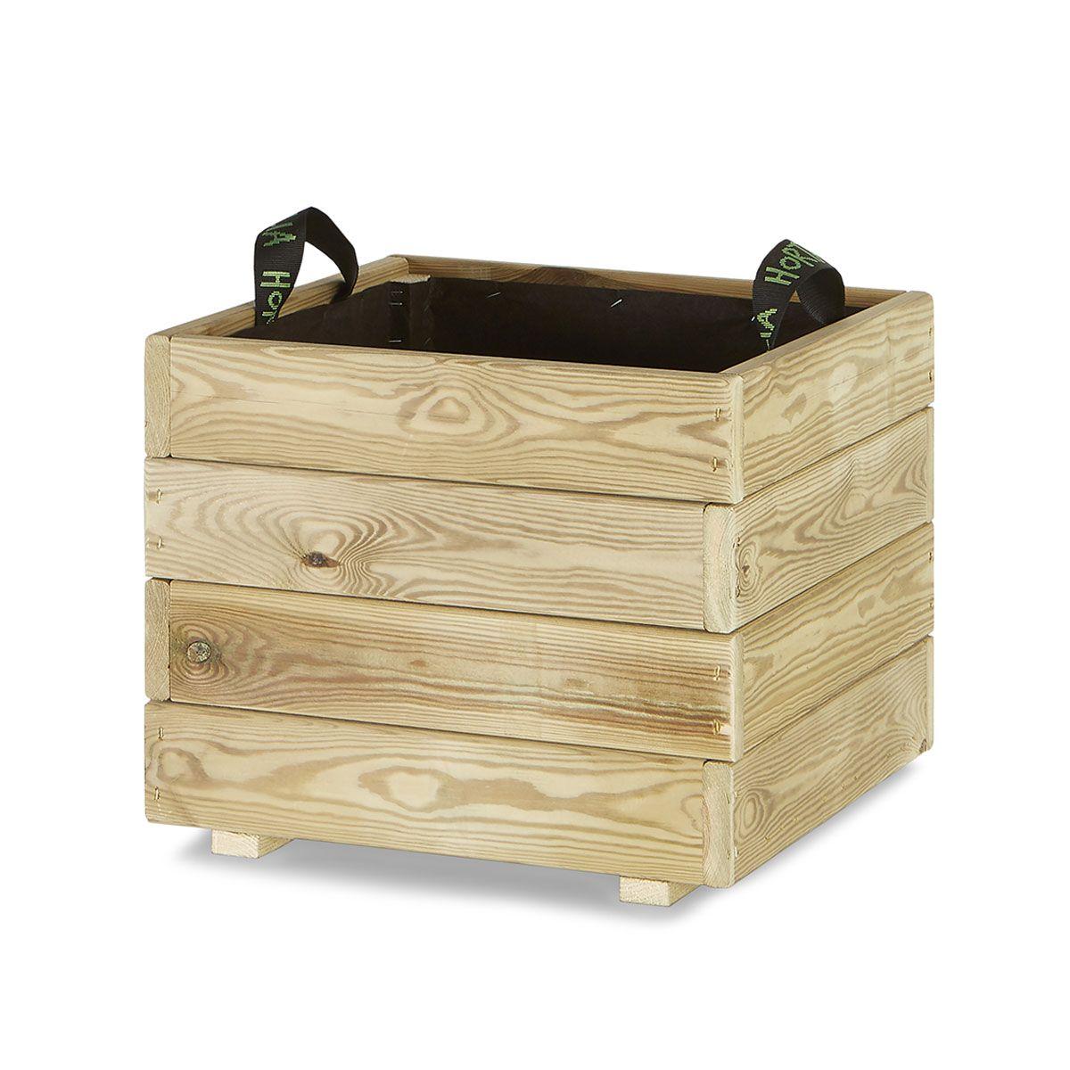 Jardinera madera cuadrada 45x45