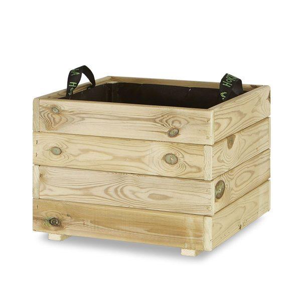 Jardinera madera cuadrada 50x50
