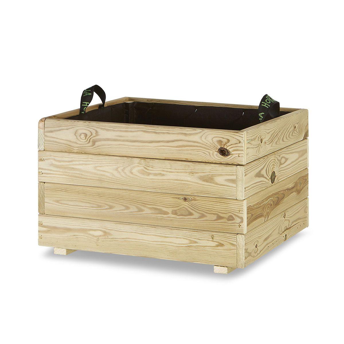 Jardinera madera cuadrada 60x60