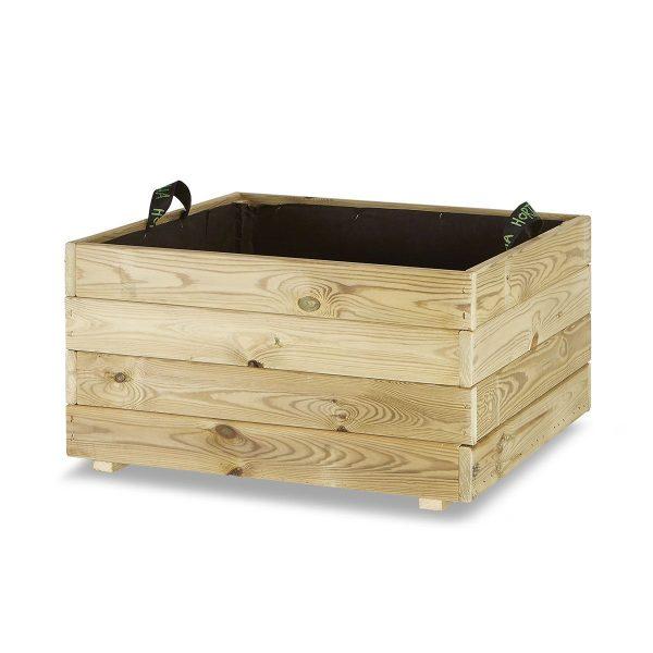 Jardinera madera cuadrada 70x70