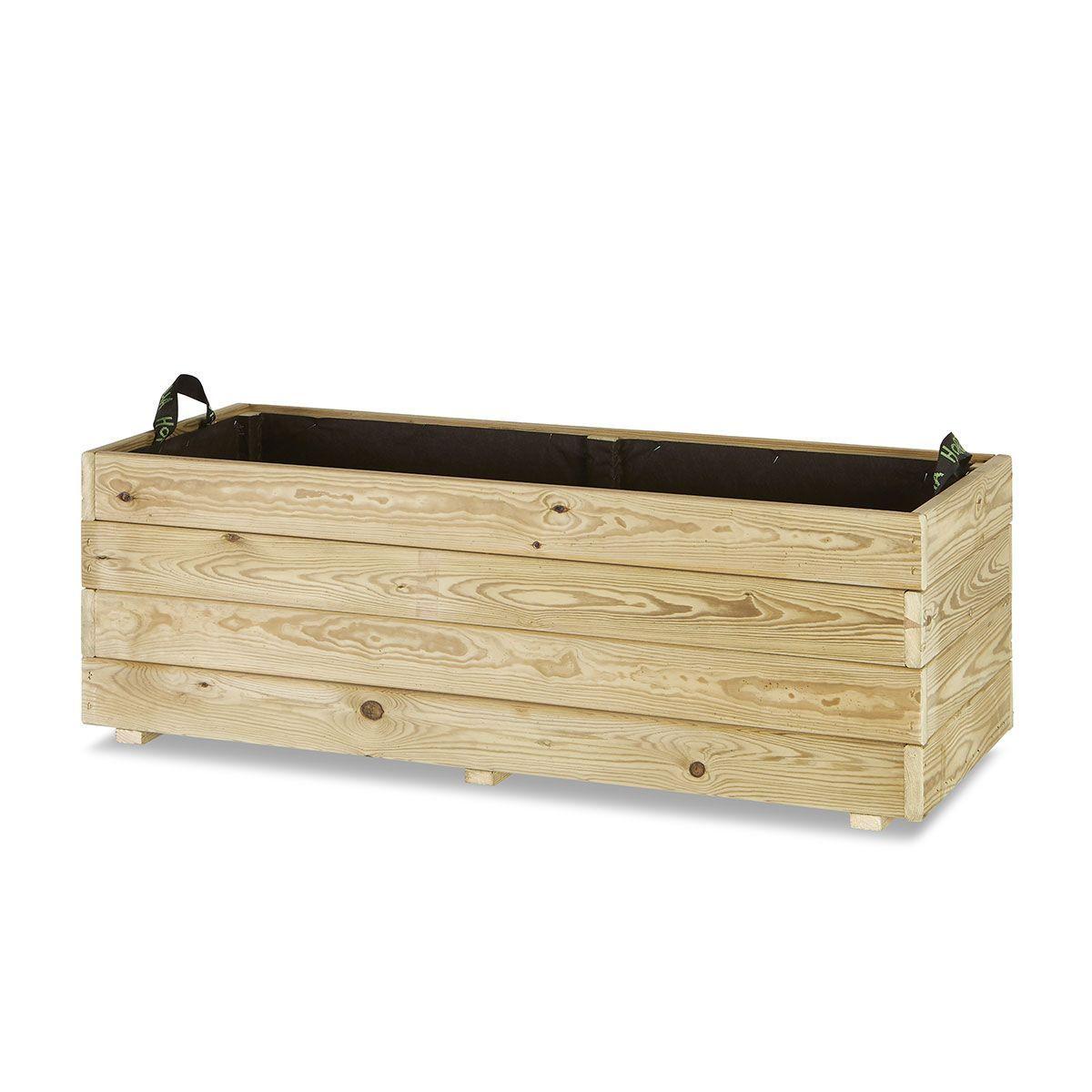 Jardinera madera rectangular 110x45