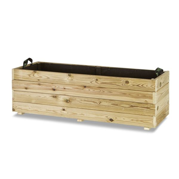 Jardinera madera rectangular 120x45