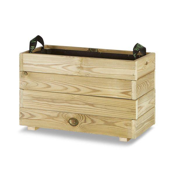 Jardinera madera rectangular 60x30