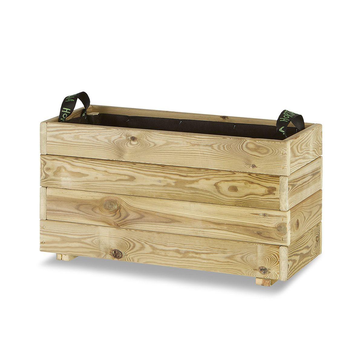 Jardinera madera rectangular 70x30