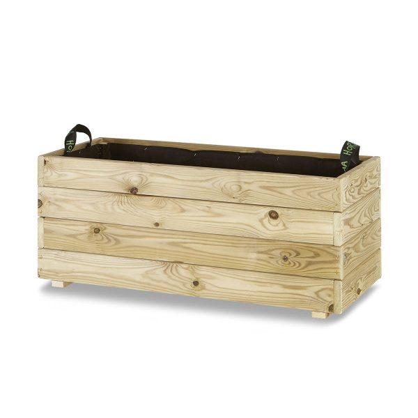 Jardinera madera rectangular 90x40