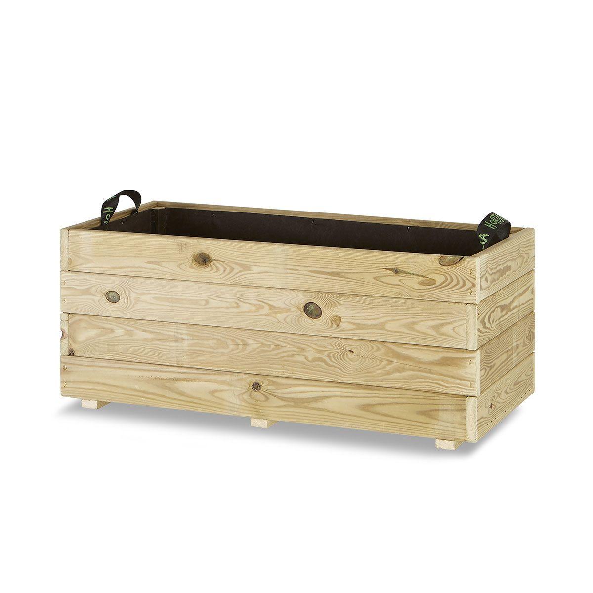 Jardinera madera rectangular 90x45