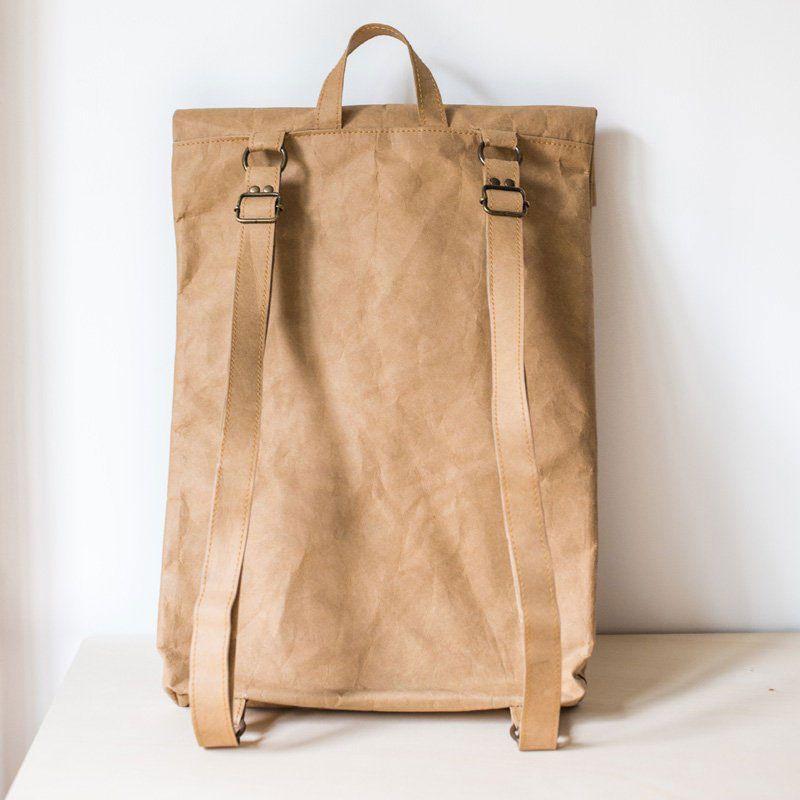Mochila papel backpack grande arena espalda