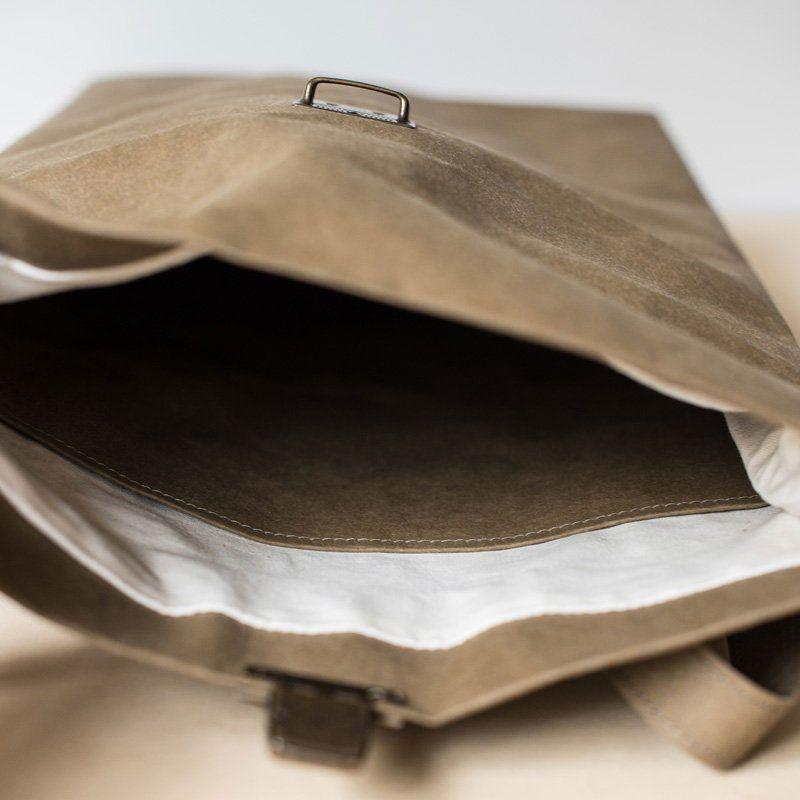 Mochila papel backpack grande interior