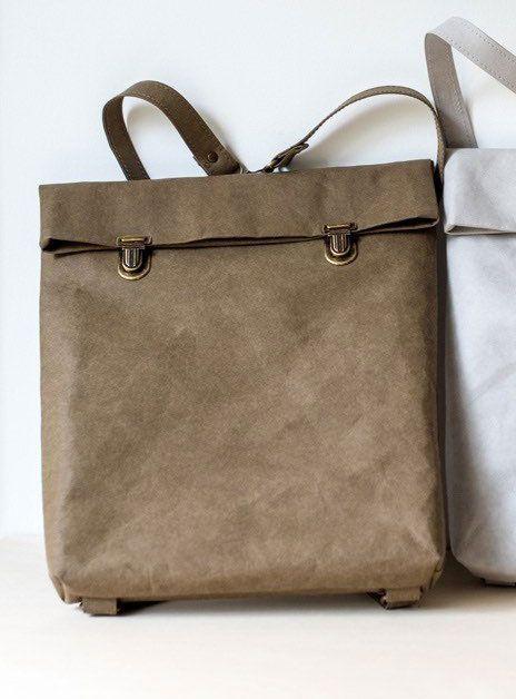 Mochila papel backpack pequeña marron