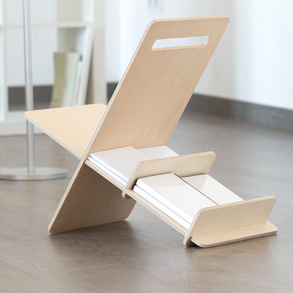 Revistero de madera minimalista