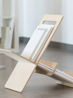 Revistero moderno de madera minimalista