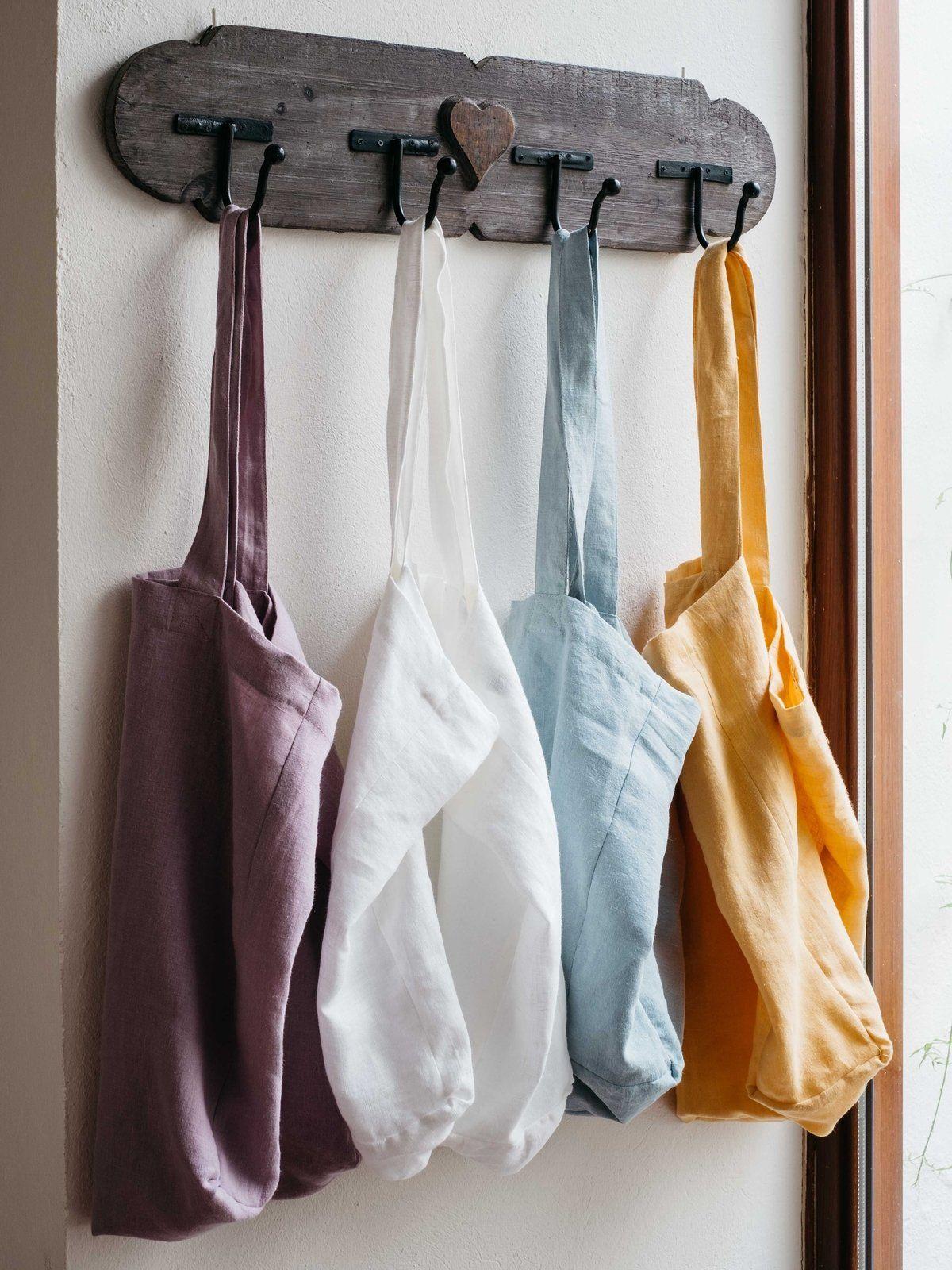 Bolsas de lino de colores