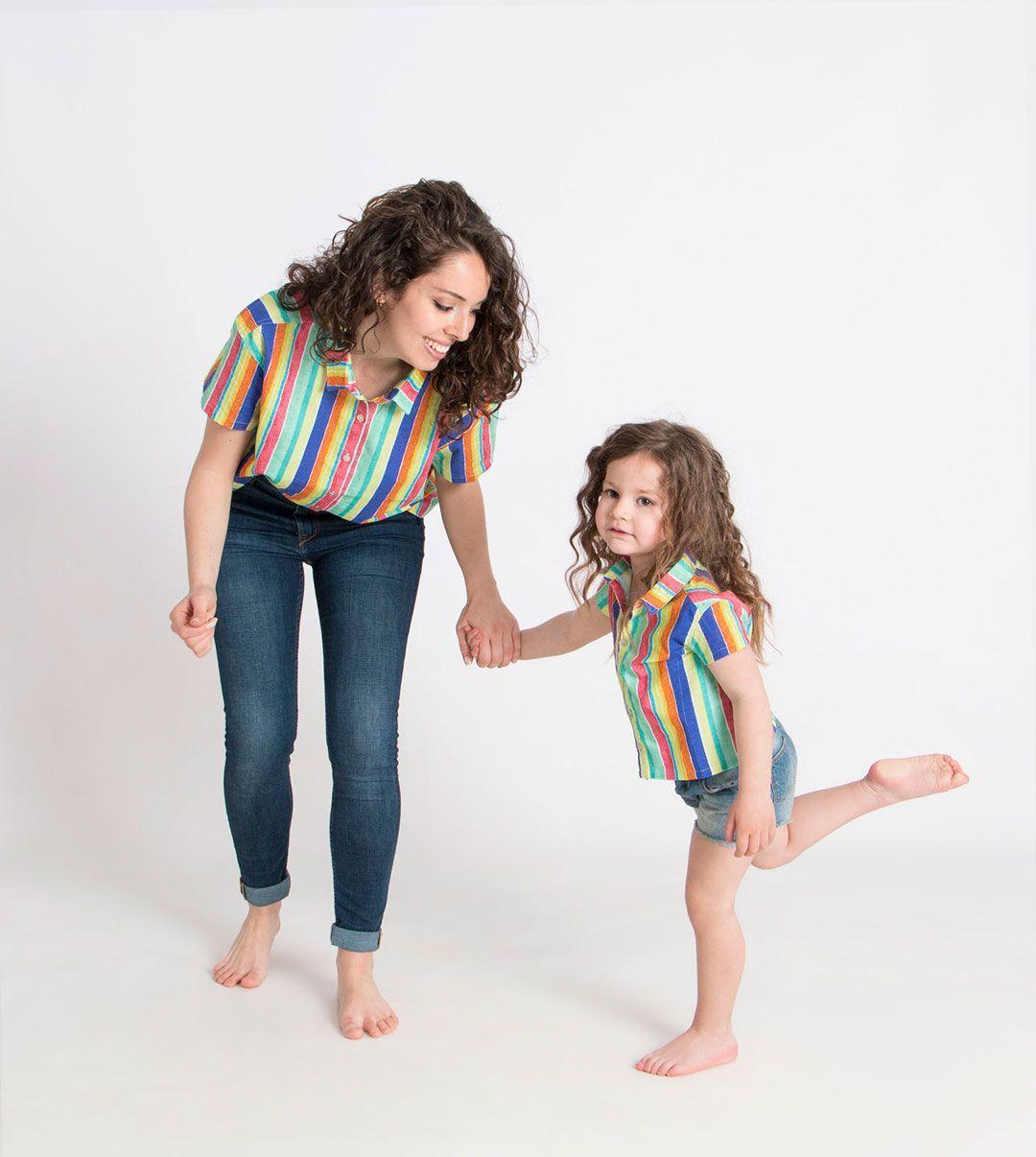 Camisa algodón orgánico coral mujer niña