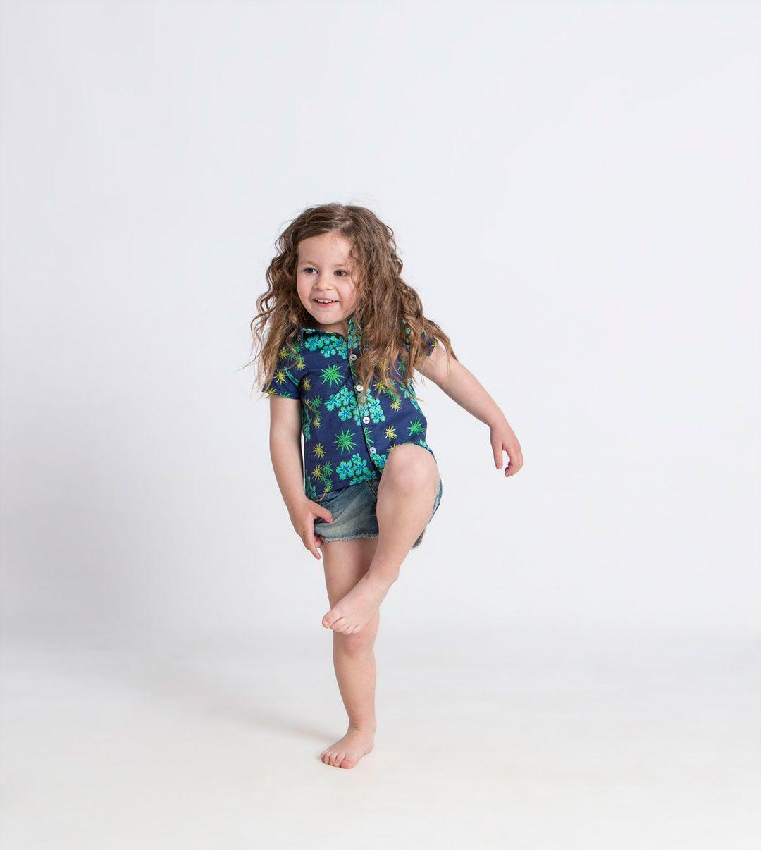 Camisa algodón orgánico niños anémonas