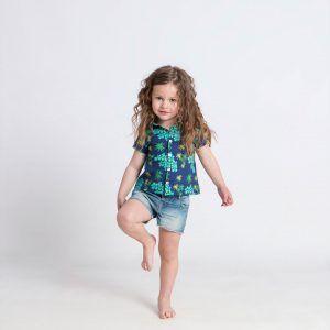 Camisa infantil anémonas algodón orgánico