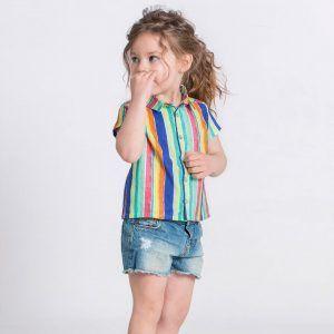 Camisa infantil coral algodón orgánico